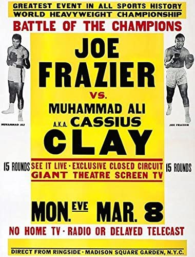 Muhammad Ali Joe Frazier New POSTER Training