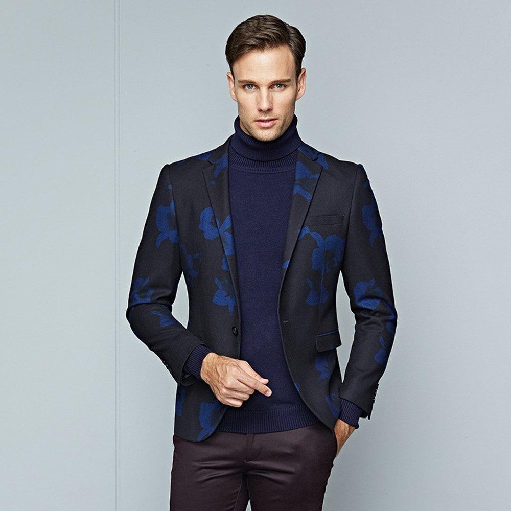 Musnow Men\'s Blazer Casual Slim Fit Suits Jacket Tux Young Suit Top ...