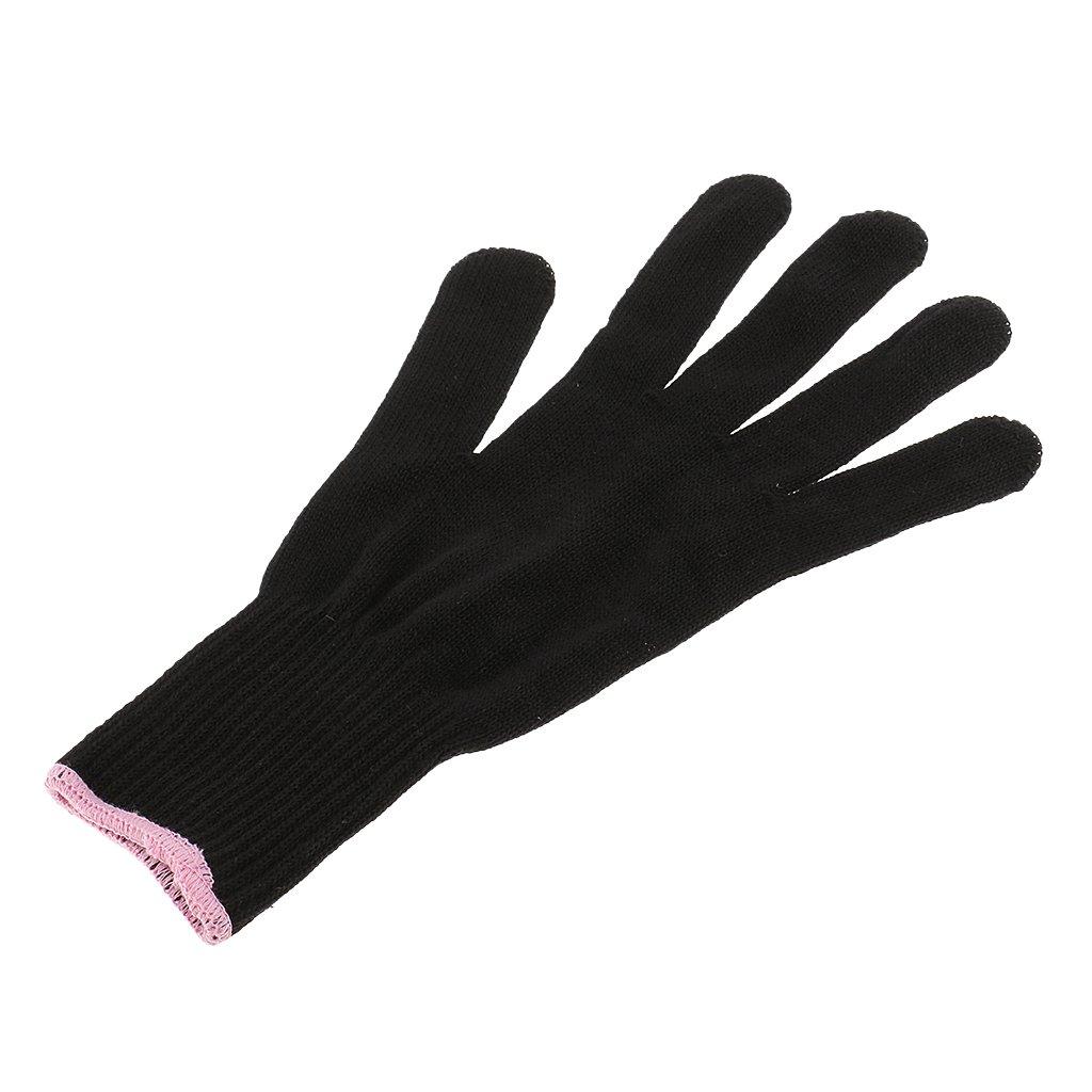 Fenteer Gant Coiffeur Résistant à la Chaleur à Protège les Mains Gauche ou Droite pour Coiffure Styling - Noir