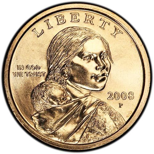 - 2008 P & D BU Sacagawea Dollars Choice Uncirculated US Mint 2 Coin Set