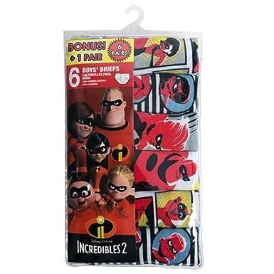 fb7b1e96137 Amazon.com  Pixar Boys  Incredibles 2 Boys 6 Pack Briefs Underwear ...