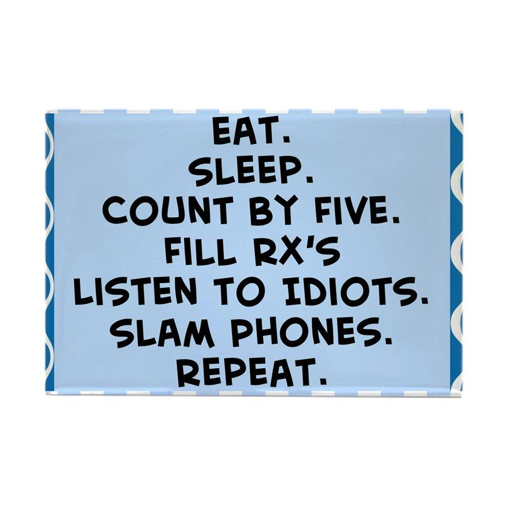 "CafePress Pharmacist Eat Sleep Blanket.PNG Rectangle Magnet, 2""x3"" Refrigerator Magnet"