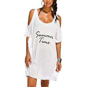 GenialES Paréo Tunique Femme Robe de Plage Bikini Maillot de Bain Cover Up Taille Unique