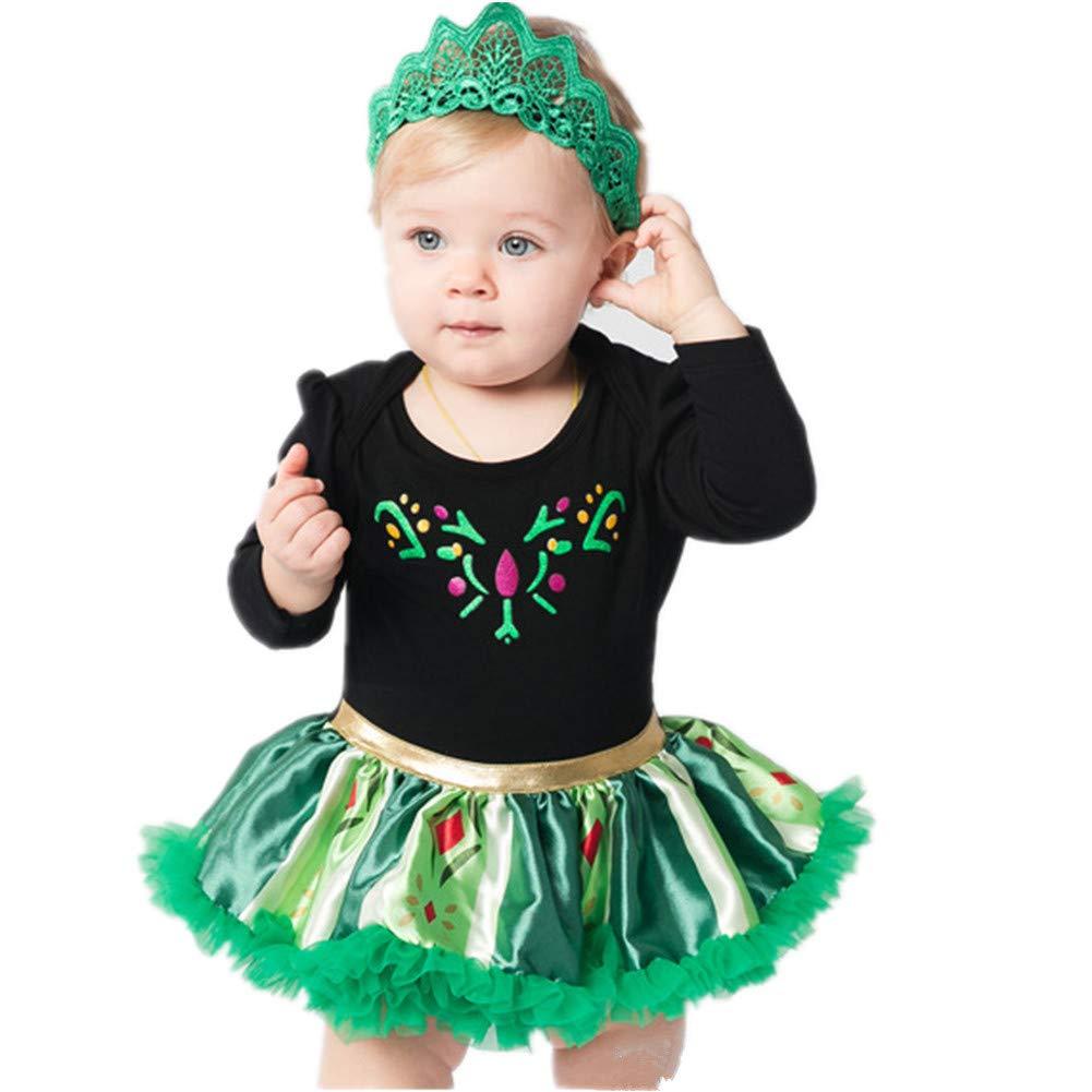 Tsyllyp Toddler Baby Girls Princess Costume Halloween Tutu Dress Up Bodysuit Christmas Romper
