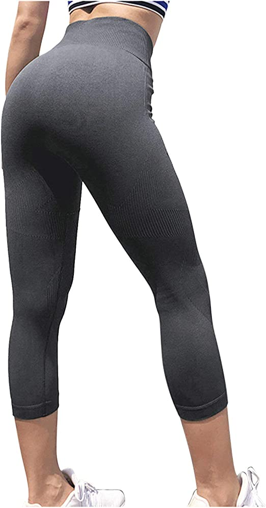 Aokarry Stretchy High Waist Workout Yoga Pants for Women Flexible Slim Fit Leggings Butt Lifting