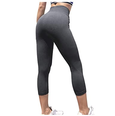 Gnzoe Sport Clothes - Stretchy High Waist Workout Yoga Pants ...