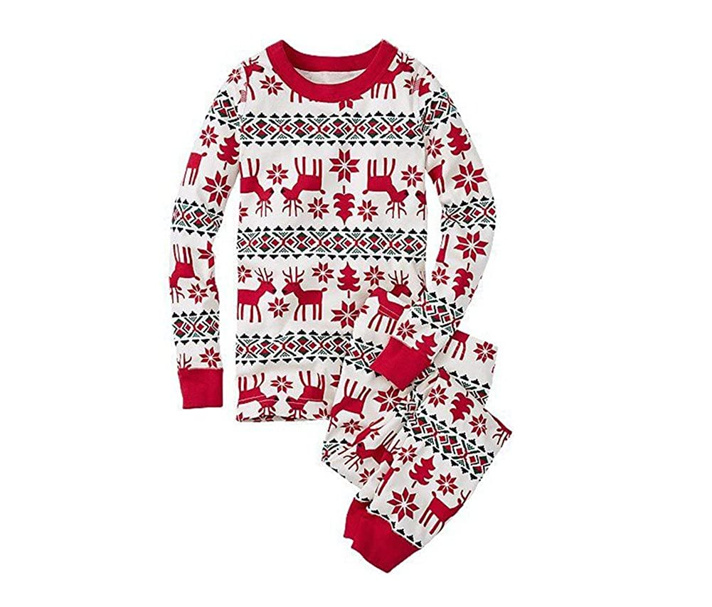 LvRao Familie Schlafanzug Pyjama Weihnachten Baby Kinder Mama Papa Xmas Rentier Hausanzug Nachtwäsche
