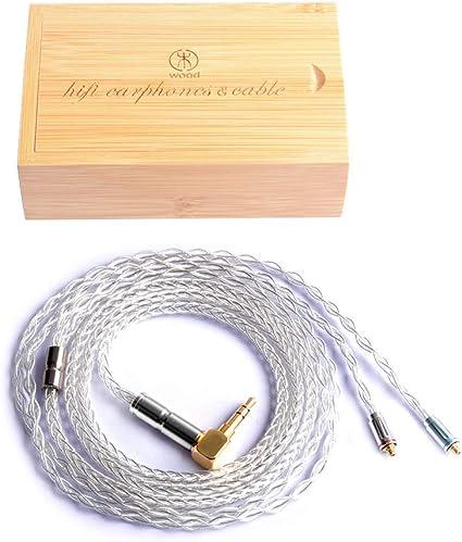 8 Core Upgrade Earphone Cable 2.5mm Audio Jack, MMCX Pure Copper MMCX Cable Detachable Replacement Cord for Shure SE215 SE315 SE425 SE535 SE846 LZ A4 A5