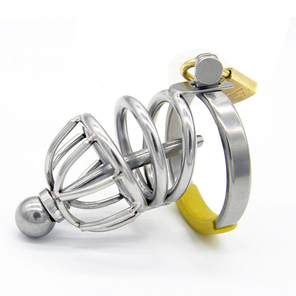 Fei Fei Dispositivo de Castidad Castidad de del Pene de los Hombres Chasis de Acero Inoxidable Equipo de Pene de Protección Juguetes Sexy Metal Productos Adultos (5.5 * 3 cm) (Tamaño : 52mm) 0fb0bb