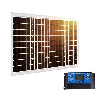 Betop-camp Panel Solar Mono de 40W 12V con Línea MC4 de 90cm ...