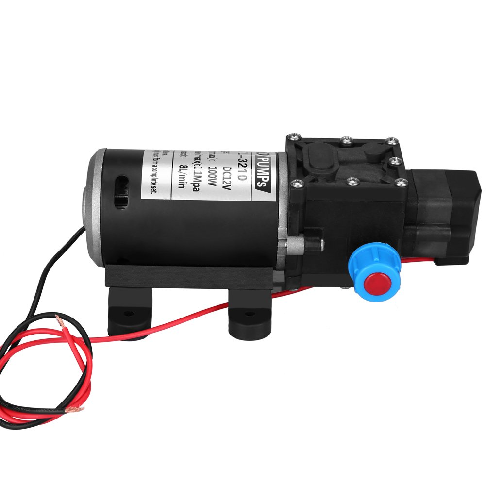 Diaphragm Pump 12v 8l Min High Pressure Self Priming Water New 30 50 Psi Adjustable Switch Well Control Valve With Average Working 100psi For Wash Home Use Dc 100w