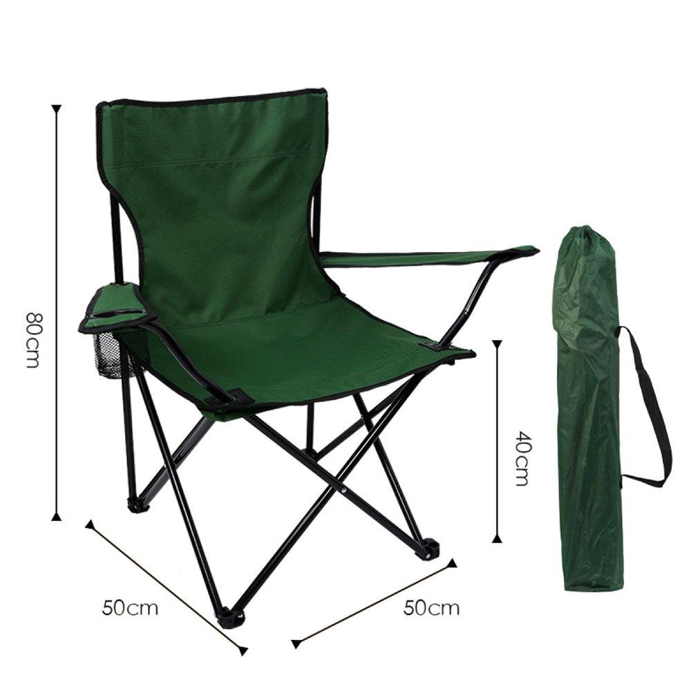 LDFN Tragbarer Campingstuhl Outdoor Multifunktionsstuhl Lässig Oxford Stoff Stahl Klappstuhl,G