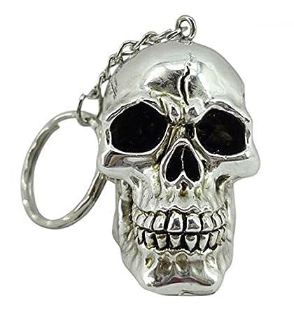 Llavero silberfarbener cráneo Calavera Figura: Amazon.es: Hogar