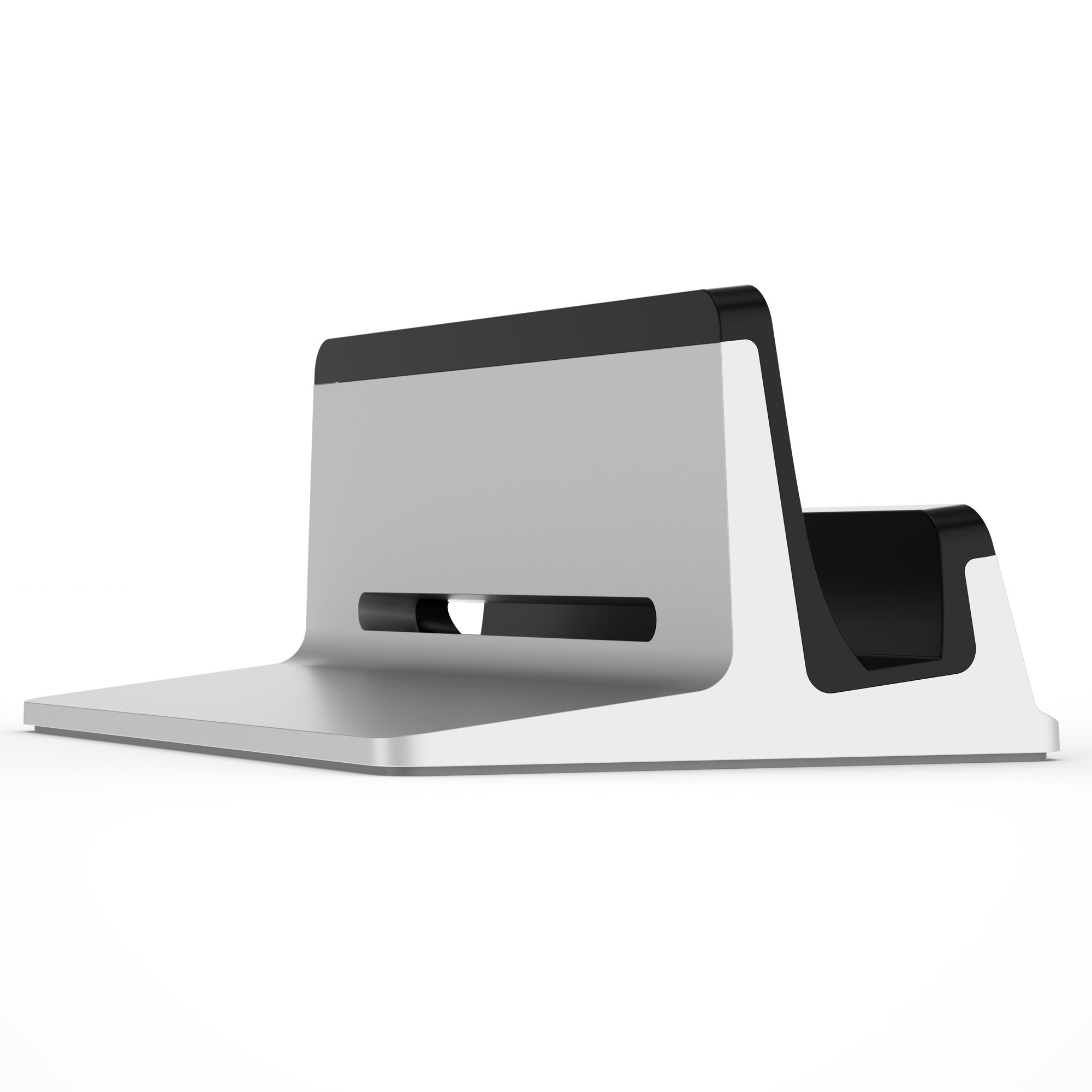UPPERCASE KRADL Pro Small Profile Aluminum Vertical Stand for Retina MacBook Pro 13'' or 15'' (2012 to 2015 Releases), Silver/Black by UPPERCASE (Image #3)