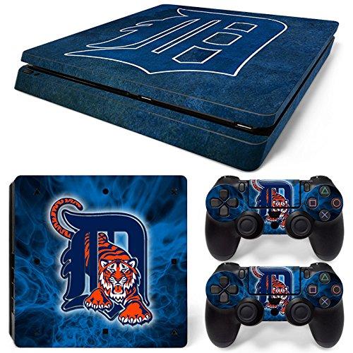 FriendlyTomato PS4 Slim Console and DualShock 4 Controller Skin Set - Baseball MLB - PlayStation 4 (Mlb Skin)