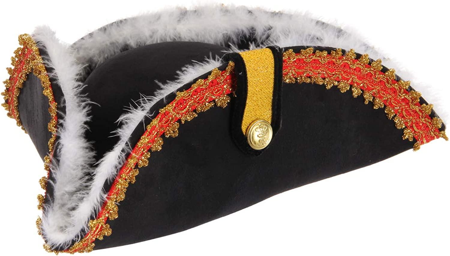 elope Gov'nah Pirate Admiral Bicorn Costume Hat for Adults