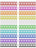 Key Tags Plastic Coded Key ID Label Key Tag Split Ring Keyring - with Label Window Ring Holder 200 Pack 10 Color
