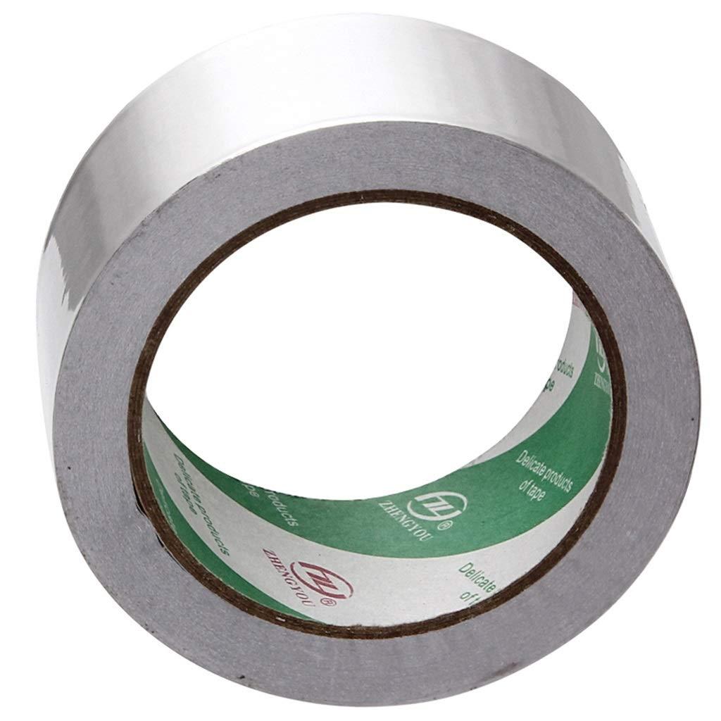 HAILUNK Thick Tin Foil Tape Waterproof Heat Insulation High Temperature Shielding Pipe Self-Adhesive Aluminum Foil Tape Kitchen Repair Glue Band 48/60cm Length 25 M (Size : 60cm)