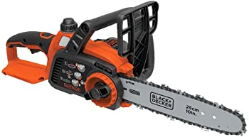 BLACK+DECKER 10 Inch 20V Max Cordless Chainsaw, Tool Only