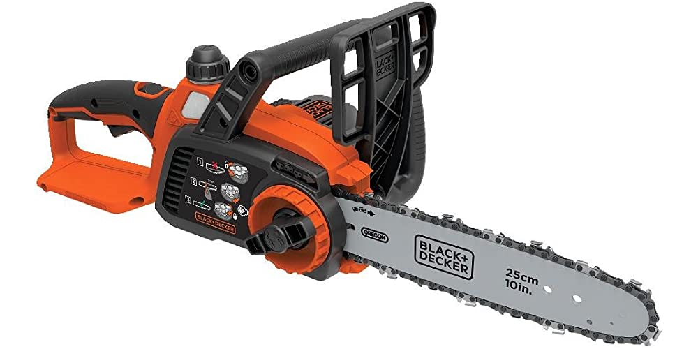 BLACK+DECKER 20V Max Cordless Chainsaw, 10-Inch, Tool Only (LCS1020B)