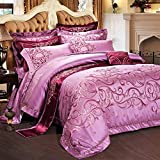 French style luxury bedding collection comforter set duvet cover pastoral floral pattern bed sheet wedding festive decoration 10 Pieces-A Queen1