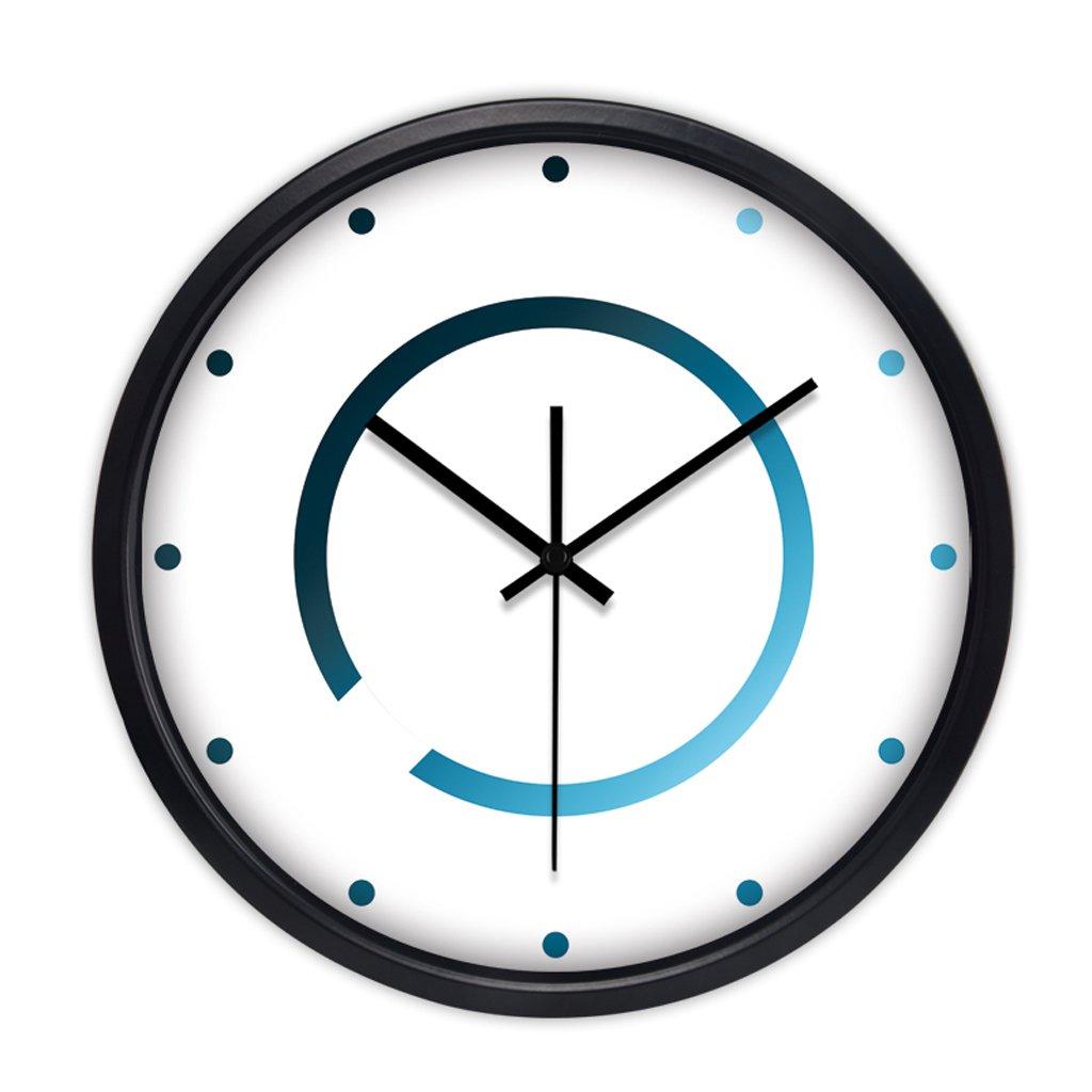 現代トレンドパーソナリティメタルウォールチャートリビングルームのベッドルームの装飾のアイデアシンプルな大きなミュートの壁時計 (色 : ブラック, サイズ さいず : 35 cm 35 cm) B07CYTZVST 35 cm 35 cm|ブラック ブラック 35 cm 35 cm