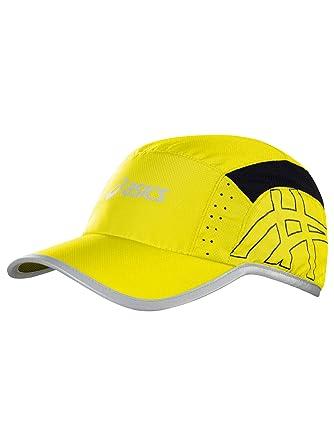 ASICS Blazing - Gorra con visera para running, color amarillo, hombre, color rojo - rojo, tamaño Uni: Amazon.es: Deportes y aire libre