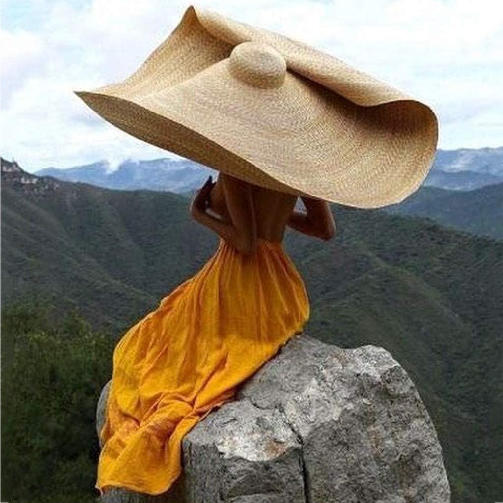 LILICAT Chapeaus Femme Capeline Chapeau de Paille Chapeau /à Large Bord Casquettes visi/ères Anti-Soleil Respirant Anti UV Chapeau de Paille pour /ét/é Plage Loisir Voyage