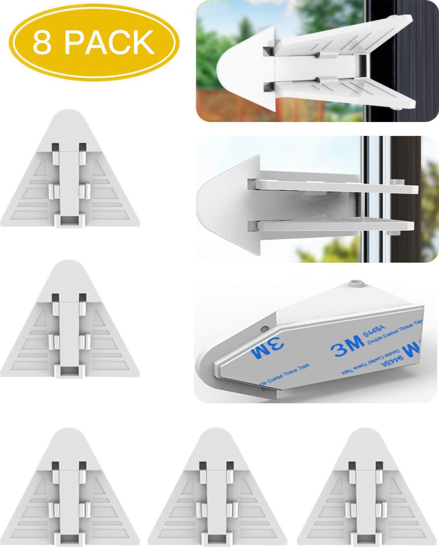 HCFGS Sliding Door Locks for Baby Safety 5 Packs Child proofing Locks for Sl...