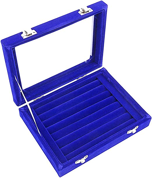 Ivos Terciopelo anillo caja caja aretes anillo joyería caja ...