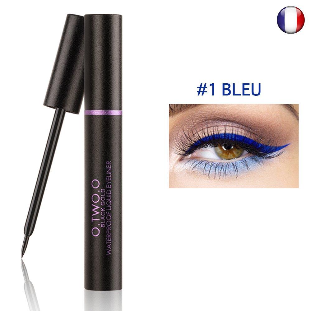 Eye liner Bleu pointe feutre longue durée waterproof de o.two. o.two.o
