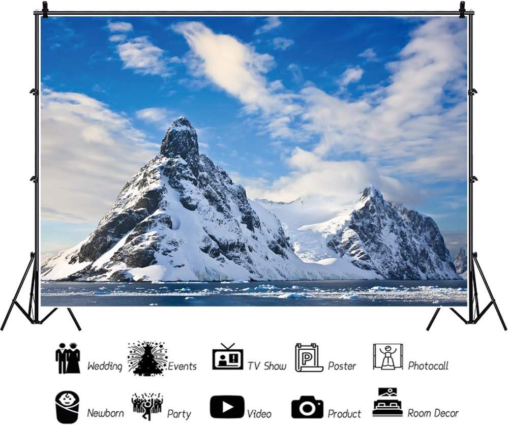 Haoyiyi 10x8ft Snowy MountainBackdrop Matterhorn Peak Pennine Alps Switzerland Nature Scenery Background Photography Photo Newborn Merry Christmas New Year Winter Wallpaper Decorative
