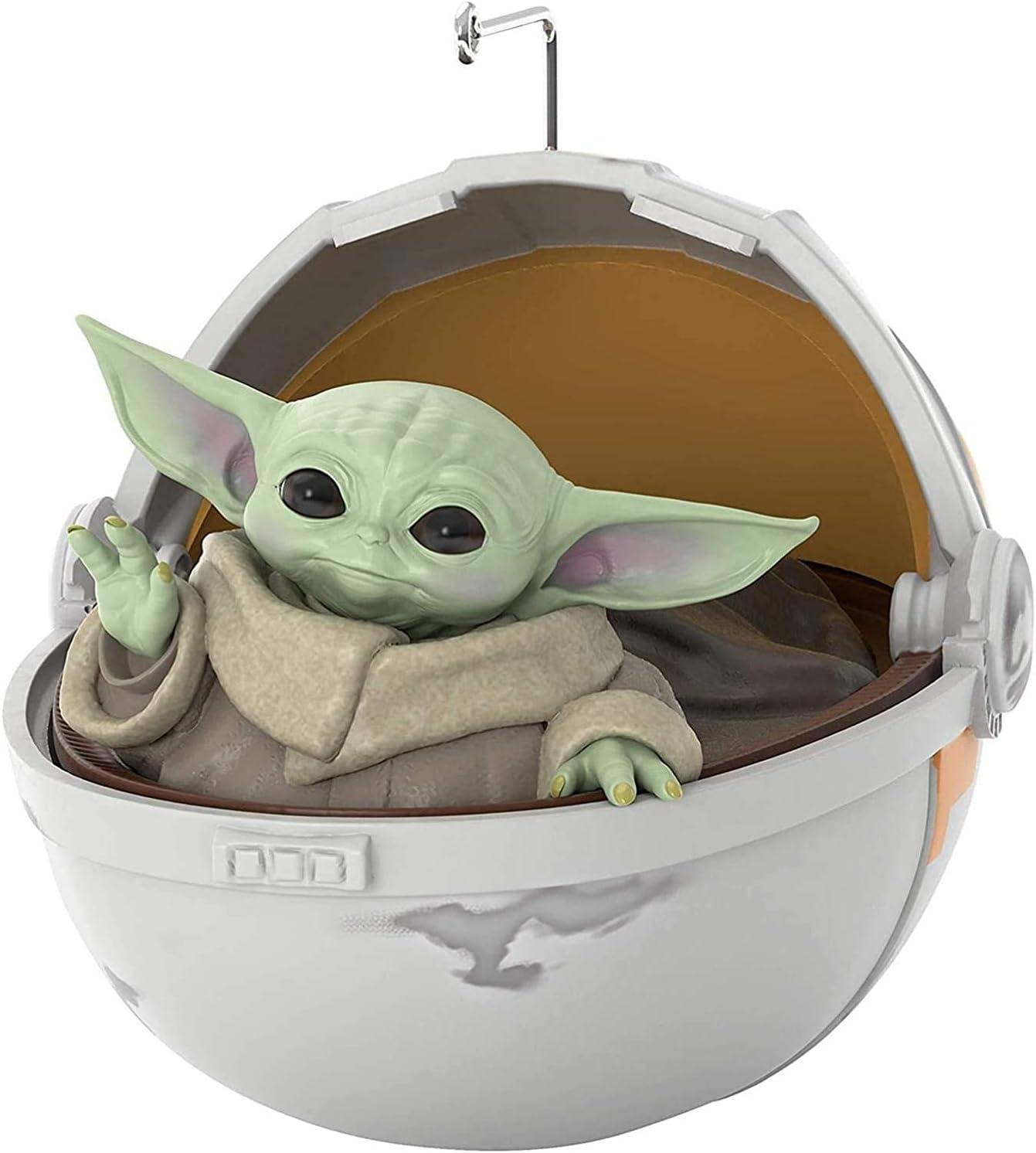 kaige Star Wars The Mandalorian Baby Yoda 3D Árbol de Navidad Decoración Ornamento Decoracion Regalos Preciosos Resina Decoracion Regalos para Niños Niños Niñas Juventud