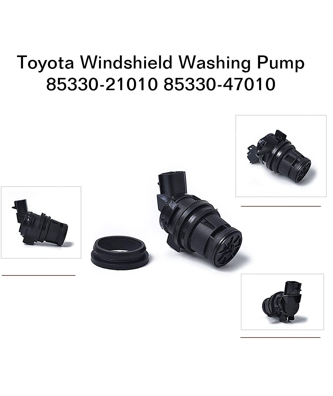 Subaru Mazda Acura Lexus Honda 85330-60170 85330-47010 85330-21010 Exerock 85330-60190 Windshield Washer Pump Motor Front Rear Replacement fit for Toyota Nissan