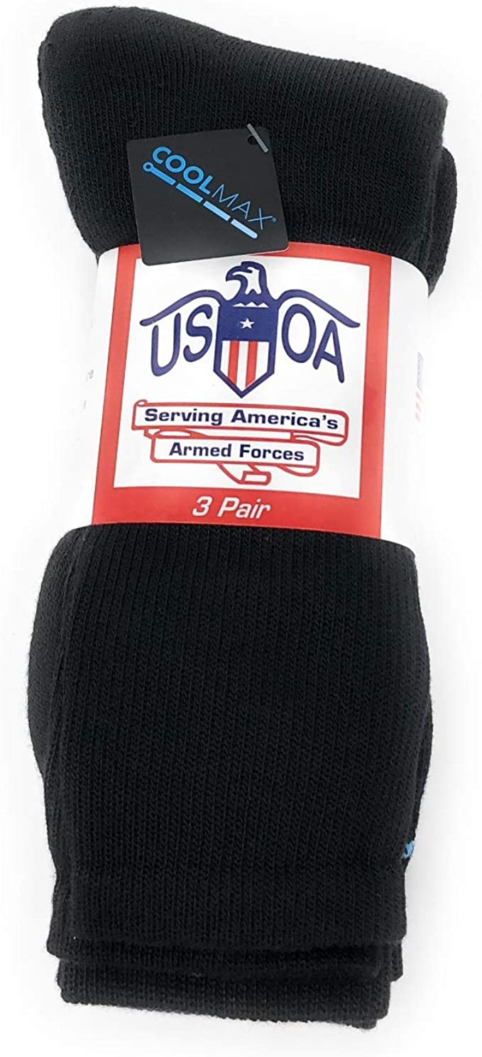 Silver Force Tactical Boot Socks Black 4 Pr Women/'s Size 9-11 Made in USA