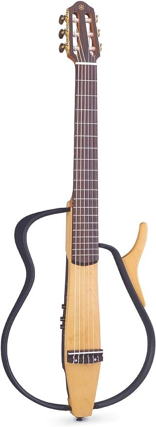 Yamaha slg100 N Silencioso nailon acústica eléctrica guitarra ...
