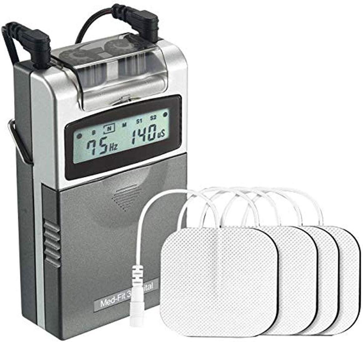 Med-Fit 3 Electrostimulador Máquina TENS digital 2 canales. Alivio rápido y eficaz del dolor