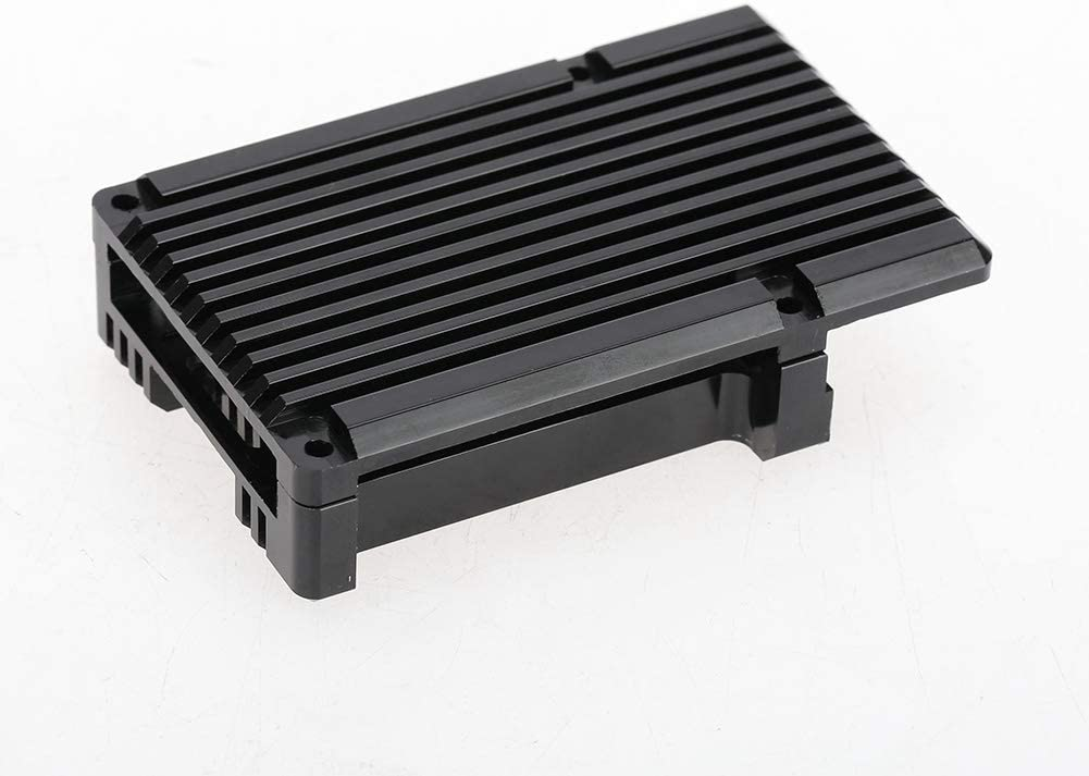 Tosuny for Raspberry Pi 4 Model B Ultra-Thin Armor Case with Cooling Fins Aluminum Alloy