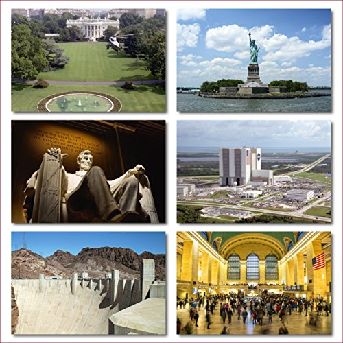 US National Monuments postcards pack - Set of 25 individual postcards featuring America's most famous national monuments and man made landmarks Photo #4
