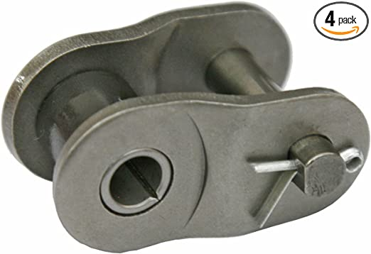 Roller Chain Half Links Jeremywell 4-Pieces 40NP Nickel Plated Offset Link