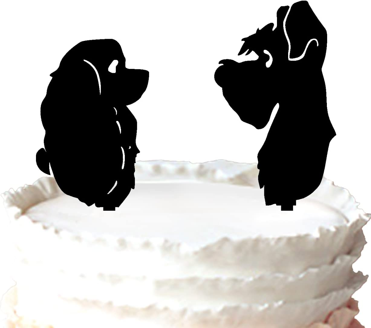 Kaishihui Silhouette Lady And The Tramp Topper For Wedding Cake Amazon Co Uk Kitchen Home