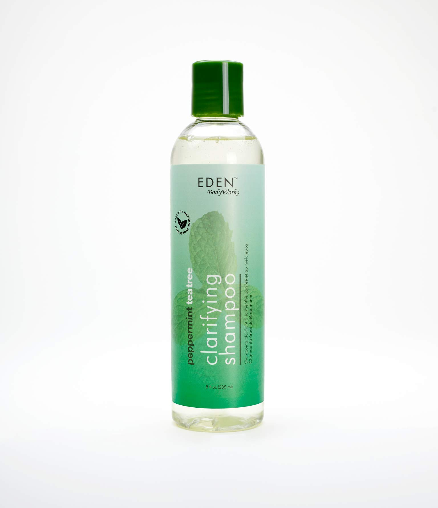 EDEN BodyWorks Peppermint Tea Tree Clear Clarifying Shampoo   8 oz   Refresh Scalp, Remove Build Up, Prevent Dandruff - Packaging May Vary