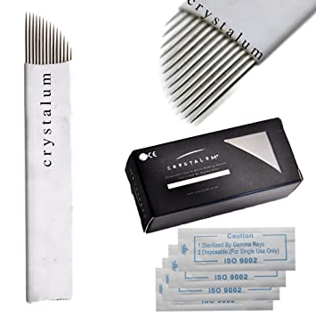 Health & Beauty Crystalum Microblading Needles 16 Pin Blades Eyebrow Tattoo Manual Disposable