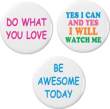 Set 3 Positive Awesome Vibes Yes I Can Do What You Love 125