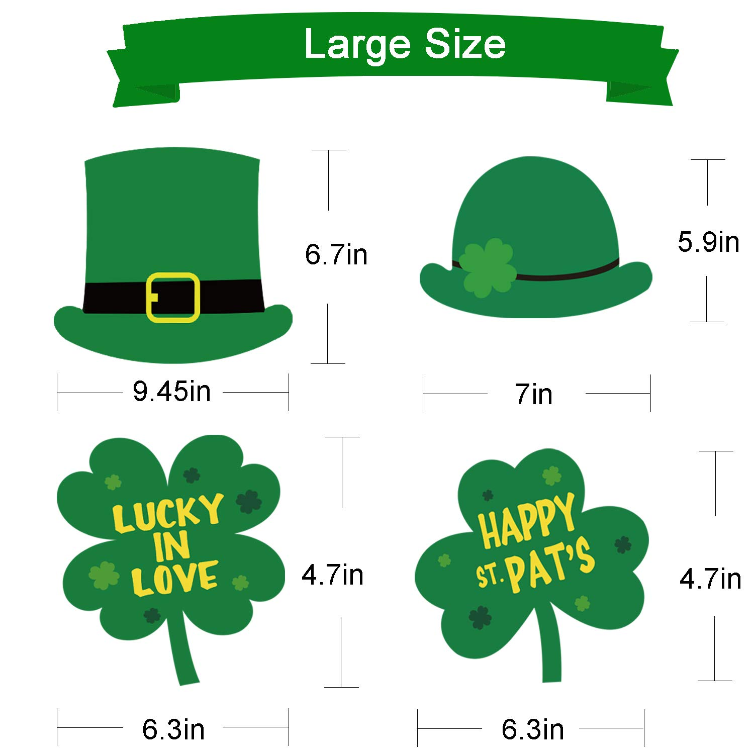 Irish Party Decorations Supplies Patty/'s Day Party Supplies St No Diy Required St Patricks Day Photo Booth Props Kit 27pcs