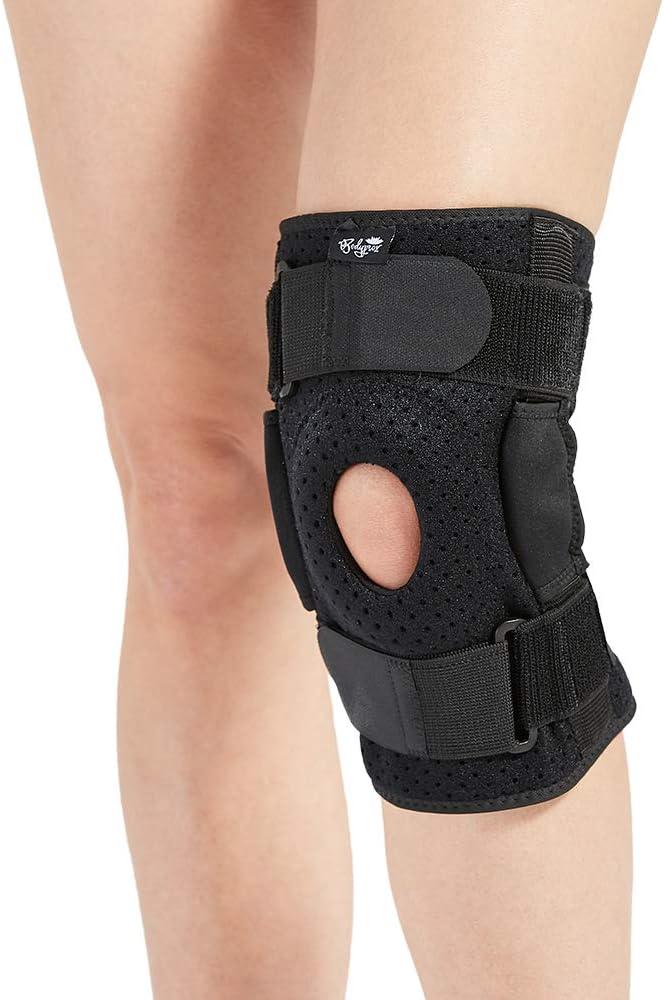 Rodillera con bisagras para hombres y mujeres, soporte de rodilla para lesiones Swollen ACL, tendón, ligamento y menisco
