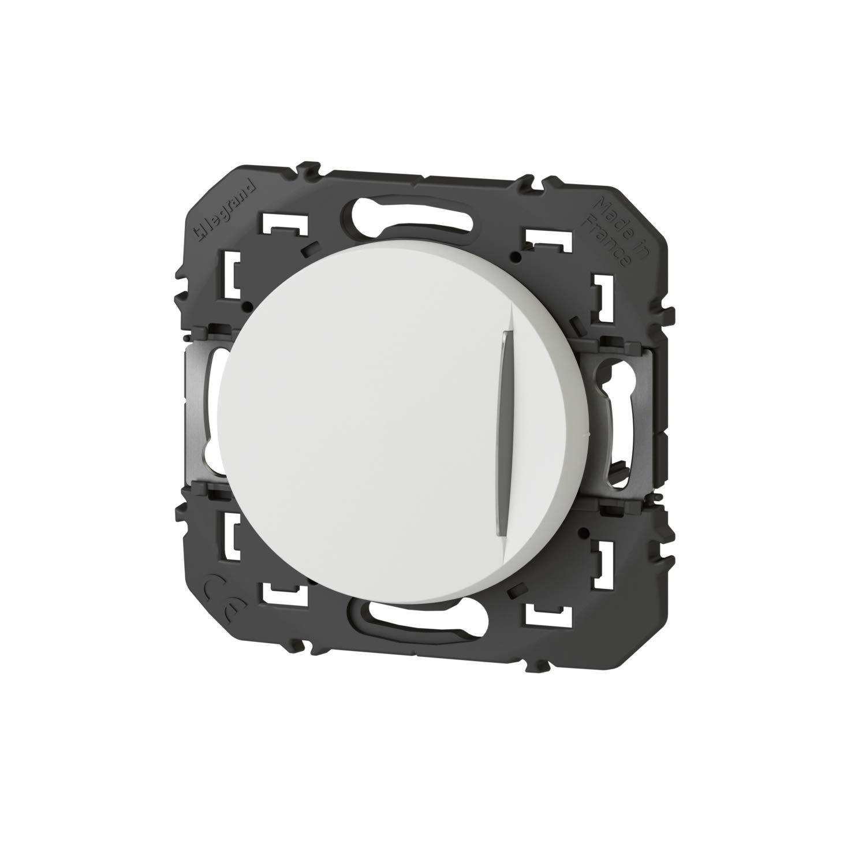 bouton poussoir - lumineux - blanc - legrand dooxie 600016