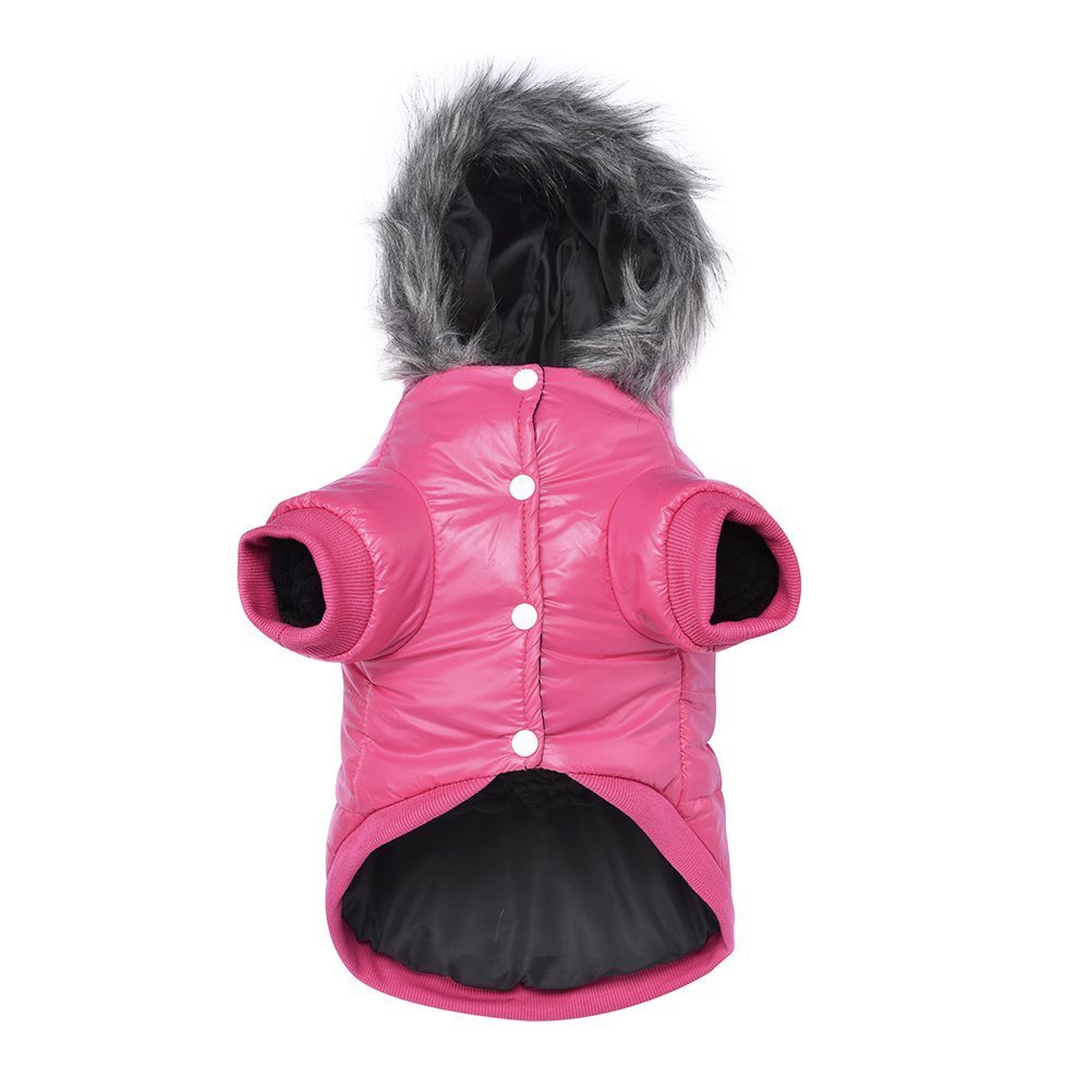 LESYPET Dog Warm Winter Coat - Waterpoof Paded Warm Hoodie Jacket for Puppy Small Dogs by LESYPET