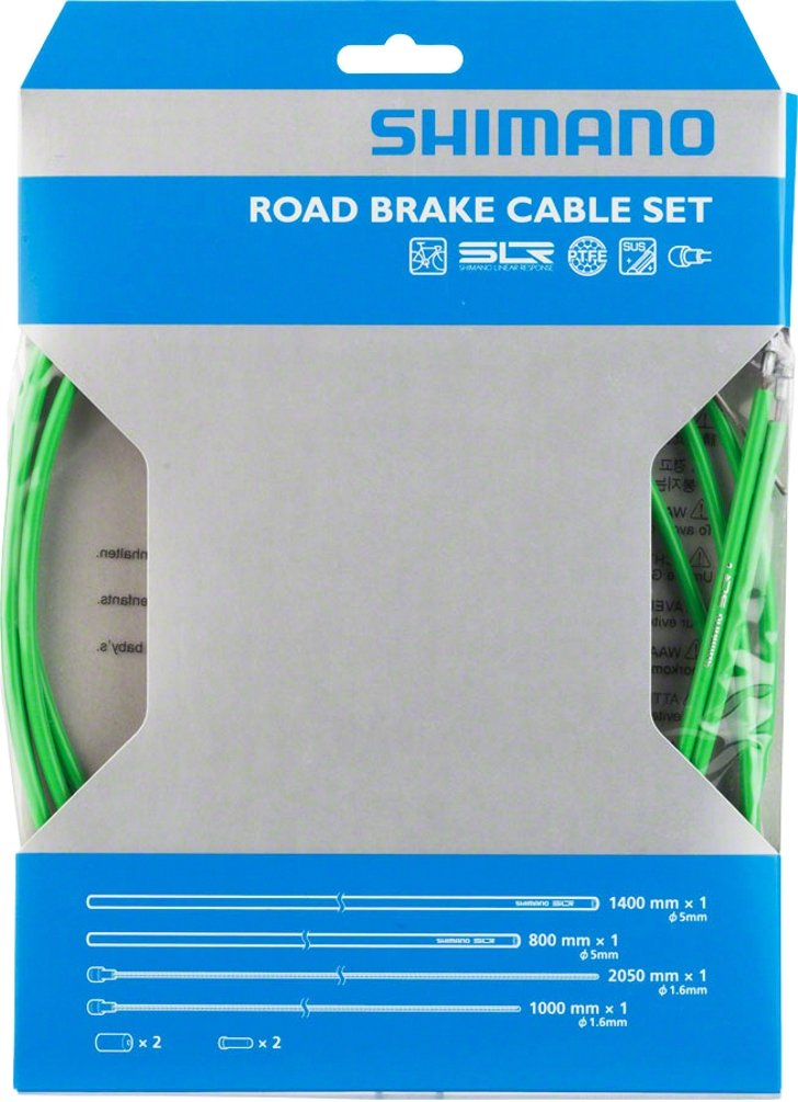 SHIMANO PTFE Road Brake Cable and Housing Set (Green) by SHIMANO