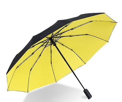 SX-ZZJ Paraguas Plegables Refuerzo Plegable Doble del Paraguas automático Diez Hueso Anti-Viento